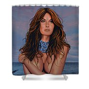 Gisele Bundchen Painting Shower Curtain