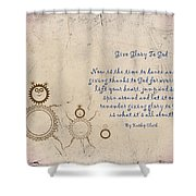 Give Glory To God Shower Curtain