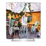 Giverny L'etalier  Shower Curtain
