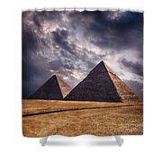Giza Pyramids In Cairo Egypt Shower Curtain