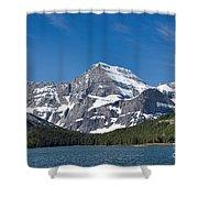 Glacier National Park Mountain Shower Curtain
