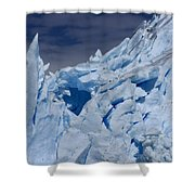 Glacial Blue Shower Curtain