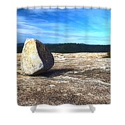 Glacial Erratic On Bald Rock Dome Shower Curtain