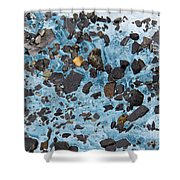 Glacial Gold Shower Curtain