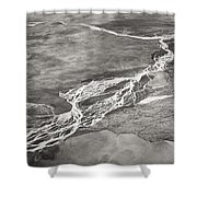 Glacial Rivers Shower Curtain