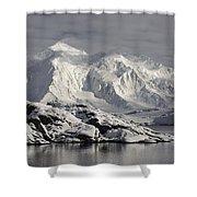 Glaciated Peaks Anvers Isl Antarctica Shower Curtain