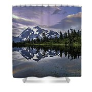 Glaciated Shower Curtain