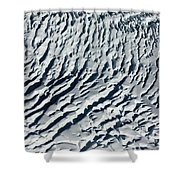 Glacier Abstract Shower Curtain