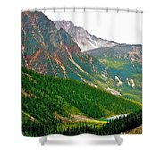 Glacier Area By Mount Edith Cavelle In Jasper Np-alberta Shower Curtain