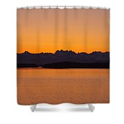 Glacier Bay Sunrise Shower Curtain