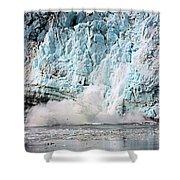 Glacier Calving Margerie Shower Curtain