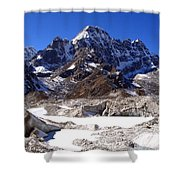 Glacier Chaos Shower Curtain