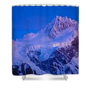 Glacier Covered Paine Grande, Chile Shower Curtain
