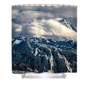 Glacier In The Clouds Shower Curtain