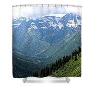 Glacier Mountain Shower Curtain