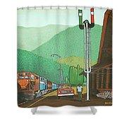 Glacier Park Belton Montana Shower Curtain