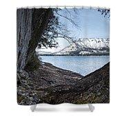 Glacier Park View Shower Curtain