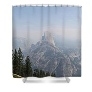 Glacier Point Panorama View Shower Curtain