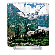 Glaciers Along Plain Of Six Glaciers Trail In Banff Np-alberta Shower Curtain