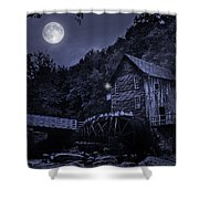 Glade Creek Grist Mill At Night Shower Curtain