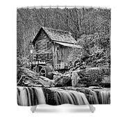 Glade Creek In Black And White Shower Curtain