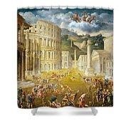 Gladiators Fighting Shower Curtain