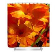 Gladiola Coral Shower Curtain