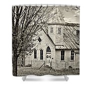Glady Presbyterian Sepia Shower Curtain