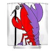 Glam Rock Lobster Or Harleguin Lobster Shower Curtain