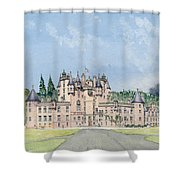 Glamis Castle Tayside  Shower Curtain by David Herbert