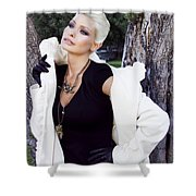 Glamour Palm Springs Shower Curtain