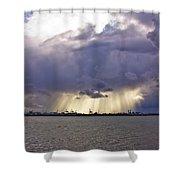 Glare Over Clontarf Shower Curtain