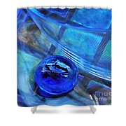 Glass Abstract 238 Shower Curtain