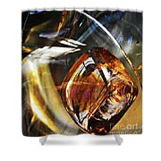 Glass Abstract 476 Shower Curtain