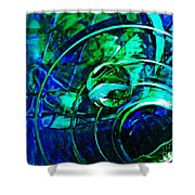 Glass Abstract 477 Shower Curtain