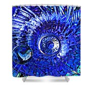 Glass Abstract 479 Shower Curtain