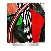 Glass Abstract 493 Shower Curtain