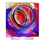 Glass Abstract 592 Shower Curtain