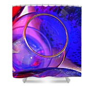 Glass Abstract 594 Shower Curtain