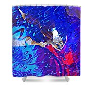 Glass Abstract 597 Shower Curtain