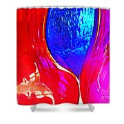 Glass Abstract 606 Shower Curtain