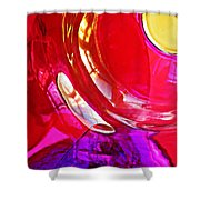 Glass Abstract 607 Shower Curtain