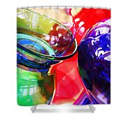 Glass Abstract 618 Shower Curtain