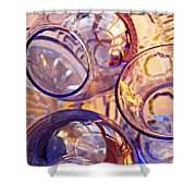 Glass Abstract 620 Shower Curtain
