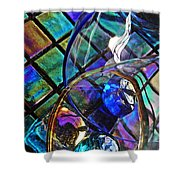 Glass Abstract 690 Shower Curtain
