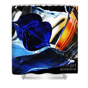 Glass Abstract 706 Shower Curtain