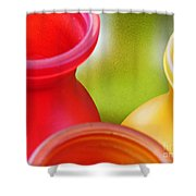 Glass Abstract 716 Shower Curtain