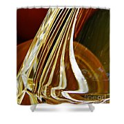 Glass Abstract 744 Shower Curtain