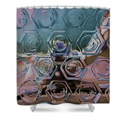 Glass Abstract II Shower Curtain