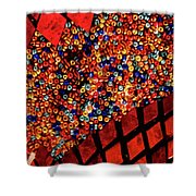 Glass And Beads Shower Curtain